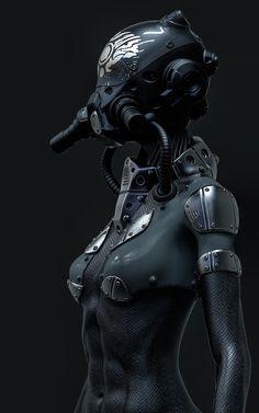 Cyberpunk Anime, Cyberpunk Girl, Cyberpunk Character, Robot Concept Art, Armor Concept, Female Character Design, Character Concept, Character Reference, Tactical Suit
