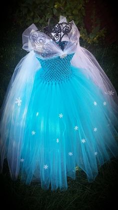 Ice queen inspired tutu dress Birthday door Aidascreativecorner