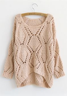 Slouch knit sweater. I would live in this.