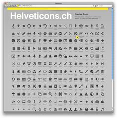 Helveticons.ch for royalty-free vector symbols