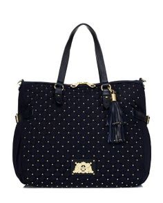 d48c200f2 Amazon: Juicy Couture Upscale Quilted Zip Top YHRU3362 Tote, Royal Navy,  One Size