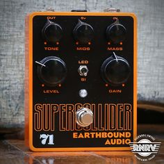 The 71 SUPERCOLLIDER is a take on the original SUPERCOLLIDER that harkens back to the old 70's muff schematic. It offers a smoother sound with a slightly lesser aggressive attack and creamier tone than the SUPERCOLLIDER. Resulting in an overall more vintage feel to the effect. This also features controls for the Level, Gain, Tone, Mids and Mass with a switch for SI/LED clipping. It, too, is wired for true bypass and can be powered by a standard 9V power supply or battery.