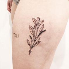 Tattoos by Olivia Harrison - sage for evelyn  november 15 / 2015