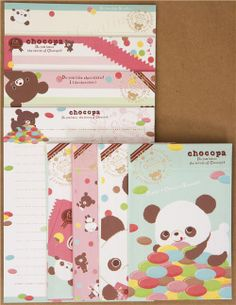 Chocopa panda bear with chocolate pills Letter Set