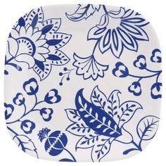 """Better Homes & Gardens 8.5"""" Melamine Salad Plate, Blue Floral"""