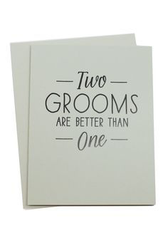 Hopefully this comes as no surprise - here at Moorea Seal, we love love in all its forms. The moment I saw this card (and the bride version) I couldn't help but smile :)