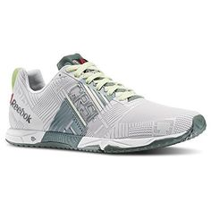 Reebok Womens CrossFit Sprint TR WhiteSilvery GreenCitrus Glow Athletic Shoes M *** Check this awesome product by going to the link at the image.