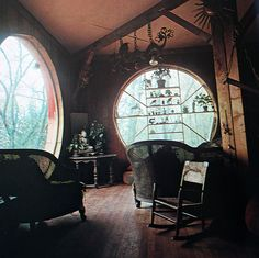 Moon to Moon decor, interior, round window, dream, hobbit home, windows, hous, space, room