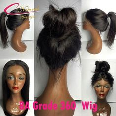 107.10$  Buy now - http://ali6vr.worldwells.pw/go.php?t=32790874100 - New Arrival 8A 360 Lace Frontal Wig Brazilian Virgin Hair Best 150% 180% Thick 360 Lace Wig Full Lace Front Wigs With Baby Hair 107.10$