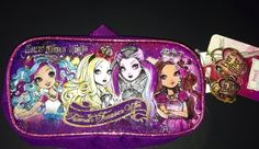 Ever After High Pencil  And School Supplies Case With Hook To Attach  NEW  Great for back to school or doll clothing and accessories