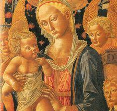 Pseudo Pier Francesco Fiorentino -  Madonna col Bambino e angeli, dettaglio - 1459 - Galleria degli Uffizi, Firenze