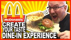 """Create Your Taste """"Dine-In Experience"""" Partnership with McDonald's Richard And Maurice Mcdonald, Barbecue Restaurant, Food Reviews, Create Yourself, Dining, Beverage, Restaurants, Social Media, Youtube"""