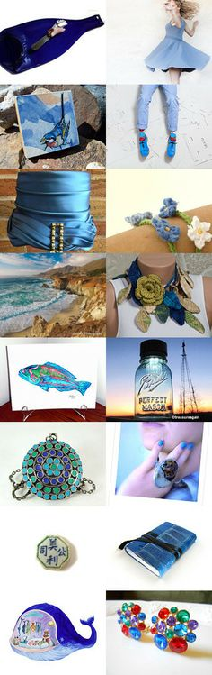Blue-tiful dreamer! by Kat Selvaggio on Etsy--Pinned with TreasuryPin.com