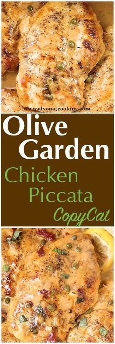 Olive Garden Chicken Piccata Copycat - Seared chicken breasts are topped with a lemon garlic butter sauce, sundried tomatoes and capers. Serve with some green vegetables and a side of mashed potatoes for one seriously delicious meal. Pollo Piccata, Piccata Sauce, Comida Fusion, Lemon Garlic Butter Sauce, Cooking Recipes, Healthy Recipes, Pasta Recipes, Quick Recipes, Delicious Chicken Recipes