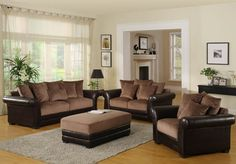 Paint Colors For Living Room With Brown Couch | Living room decorating ideas brown sofa5