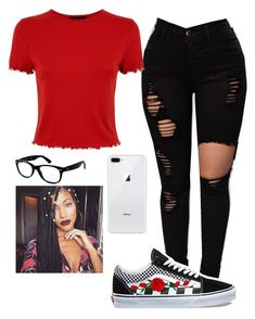 """Untitled #165"" by miraclemitchell on Polyvore featuring Vans and Ray-Ban"