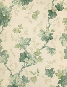 When I was a little girl Momma had ivy wallpaper in the kitchen similar to this Ivy Trail pattern