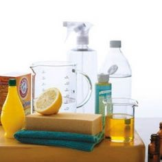 Feeling thrifty? Here are 20 Homemade Cleaning Products worth trying. (image via Martha Stewart)