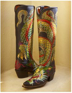 How about a pair of tall dragon boots? Love, love, love their artistry. www.Rocketbuster.com