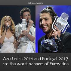 #escazerbaijan #azerbaijan #ellandnikki #ellnikki #eldargasimov #nigarjamal #esc2011 #eurovision2011 #escportugal #portugal #salvadorsobral #esc2017 #eurovision2017 #eurovision #eurovisionsongcontest • Admin's opinion: They are two of the worst winners