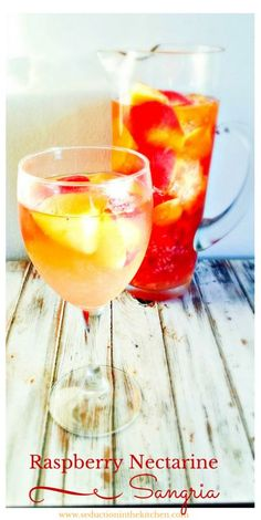 Raspberry Nectarine Sangria | Seduction in the Kitchen