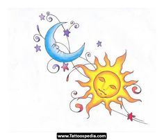 drawings of the sun and moon - Google Search