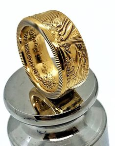 Gold American Eagle, American Coins, Eagle Ring, Skinny Rings, Coin Jewelry, Jewellery, Coin Ring, Gold Bullion, Handmade Rings