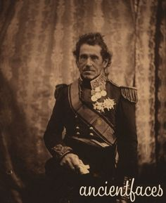 Lieutenant General Sir De Lacy Evans, G.C.B., M.P. who was a part of numerous battles including the War of 1812 in the U.S., the battle of Waterloo in Belgium, and the Crimean War.