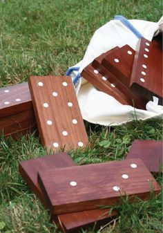 Have fun outdoors with these DIY yard dominos -- the perfect party game.
