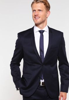 """Sleeve """" (Size Back """" (Size outer leg """" (Size Rise:normal. Men's Wardrobe, Hugo, Suit And Tie, Costume, Fabric Material, Mannequin, Mens Suits, Dark Blue, Suit Jacket"""