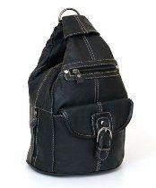 Convertible Back Pack Purse, Mid Size Tear Drop Shoulder Bag, Backpack, Sling Bag. Genuine Leather  From VOS
