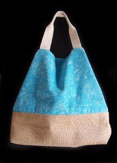 "Light Blue Washed Canvas Tote with Burlap - x x 5 ½""D Burlap Chair Sashes, Burlap Curtains, Burlap Fabric, Burlap Pillows, Burlap Coffee Bags, Burlap Bags, Muslin Bags, Jute Tote Bags, Canvas Tote Bags"