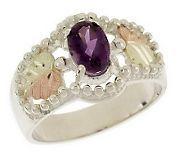 Black Hills Oval Gemstone Ring, Sterling/12K Gold - J301455