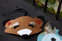 Woodland Creature Masks. Bring out your wild side by following a print template for creature masks. These are perfect for the smile booth! Like this idea? Check out the HUGGIES® Printable Board: pinterest.com/huggies/printables