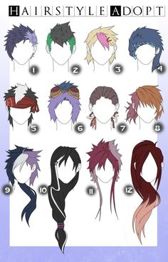 Hairstyle adopts with color - male (CLOSED) by x3misteryYuyux3 on DeviantArt