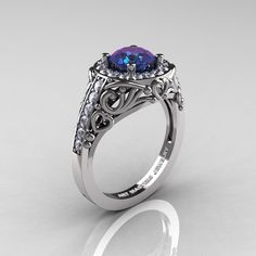 Italian 14K White Gold 1.0 Ct Color Change by DesignMasters, $1,859.00