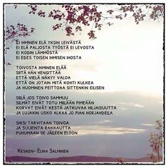 Kuvahaun tulos haulle kesken elina salminen Art Quotes, Poems, Thoughts, Personalized Items, Image, Instagram, Inspirational, Quote, Poetry
