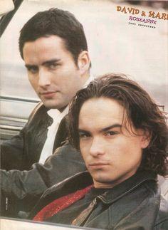 Johnny Galecki & Glenn Quinn (aka Mark & David from Roseanne)