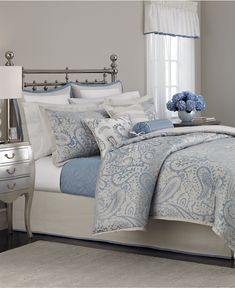 Martha Stewart Collection Gemstone Paisley 22 Piece Comforter Sets - Bed in a Bag - Bed & Bath - Macy's