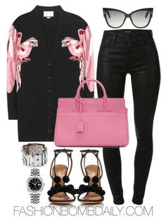 Untitled #2020 by dnicoleg on Polyvore featuring polyvore fashion style Gucci J Brand Aquazzura Yves Saint Laurent Rolex Tom Ford clothing