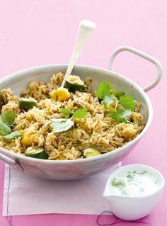 Quick vegetable biryani