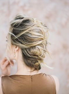 deconstructed braided updo for the bride | image via: once wed