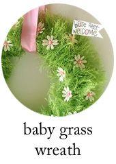 Monday make it: Spring Baby Grass Wreath