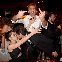 Pin for Later: 25 Emmys Pictures You Don't Want to Miss Amanda Peet, David Benioff, and Pedro Pascal Amanda kissed her husband, David, while celebrating his win for Game of Thrones with Pedro at the HBO afterparty.
