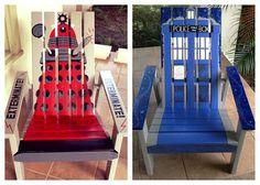 Adirondack chairs/doctor who.