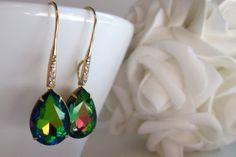 Multicolored Rhinestone Earrings Bridal,Rhinestone and Spiritual Jewelry  #design #bridalearrings