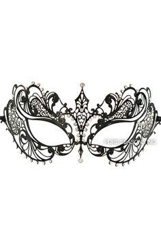 Empress Divine Venetian Mask (Black) #masquerade #masks #newyearseve