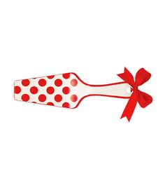 Red Polka Dot Cake Server | REstyleSOURCE