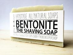 Bentonite Shaving Soap  A very simple, yet effective formula which combines Coconut Oil, Castor Oil, Sweet Almond Oil, Palm Oil (RSPO Sustainable), Olive Oil, Cocoa Butter and Bentonite Clay. It creates a very rich, creamy and moisturizing lather and Bentonite Clay provides a very smooth glide. Shaving will never be easier! And you you will feel your skin soft and smooth!