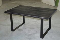 140€  Wooden table , metal legs #wood #wooden #table #woodentable